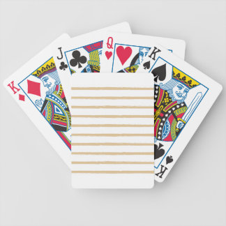 Textured Stripes Beige White  Rough Lines Pattern Bicycle Playing Cards