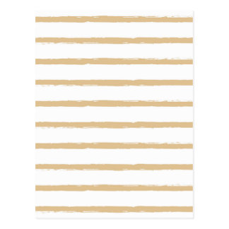 Textured Stripes Beige White  Rough Lines Pattern Postcard
