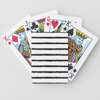 Textured Stripes Black White Rough Lines Pattern Bicycle Playing Cards