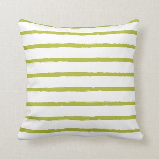 Textured Stripes Lines Chartreuse Green Modern Throw Pillow | Zazzle.com