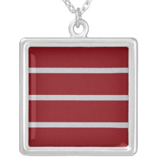 Textured Stripes necklace, customize Silver Plated Necklace
