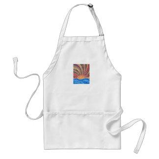 Textured Sunrise- Acyrlic Painting Adult Apron