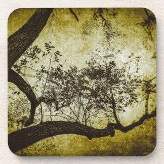 Textured Tree (Gold) Coaster