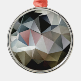 Textured Triangles Metal Ornament
