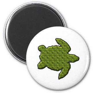 Textured Turtle 2 Inch Round Magnet
