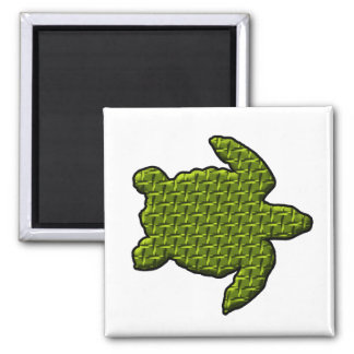 Textured Turtle 2 Inch Square Magnet