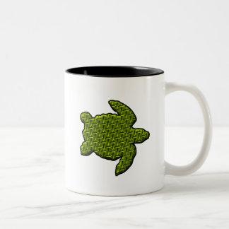 Textured Turtle Two-Tone Coffee Mug