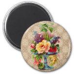 Textured vintage Floral Display Fridge Magnets