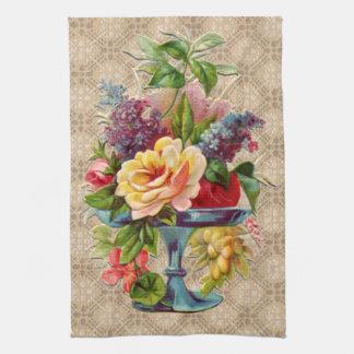 Textured vintage Floral Display Towel
