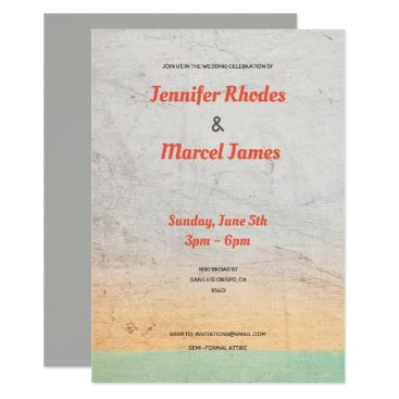 Bride Themed Textured Wedding Invitation