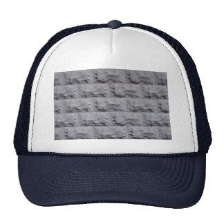 Textured white brick wall mesh hats