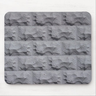 Textured white brick wall mousepads