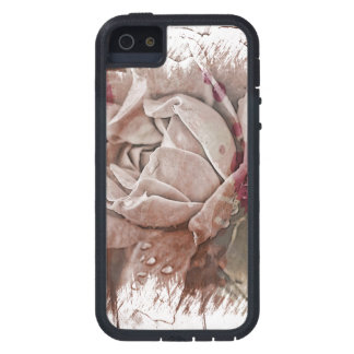 Textured White Rose iPhone SE/5/5s Case