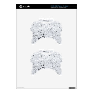textured white wall xbox 360 controller decal