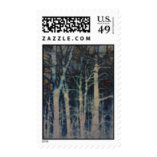 Textured Winter Abstact Postage