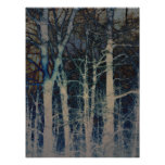 Textured Winter Abstract Poster