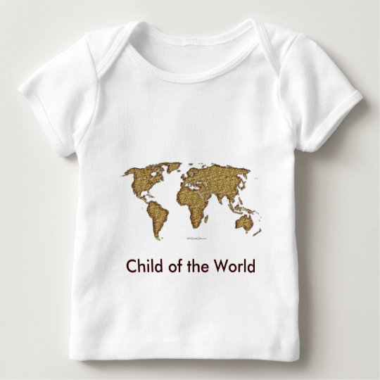 Textured WORLD MAP Baby T-Shirt