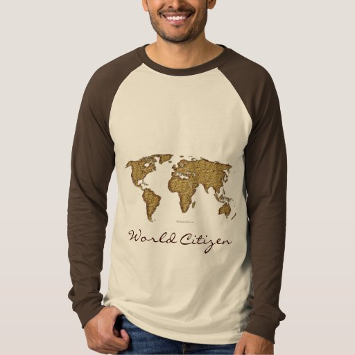 Textured WORLD MAP T-Shirt