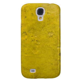 Textured yellow paint galaxy s4 cover