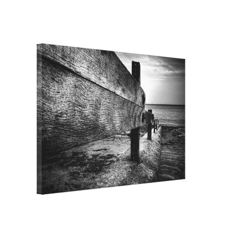 Textures Of A Broken Groyne Canvas Print
