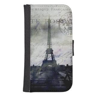 Texured París en lavanda Funda Tipo Cartera Para Galaxy S4