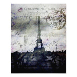 Texured Paris in Lavender Photo Print