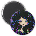 """Teya"" Mermaid Fantasy Fairy Rose 2 Inch Round Magnet"