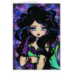 """Teya"" Mermaid Fantasy Fairy Rose Card"