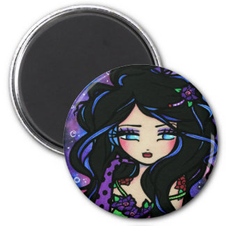 """Teya"" Mermaid Fantasy Fairy Rose Magnet"