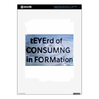 tEYErd of CON$UMNG in FORMation iPad 3 Skin