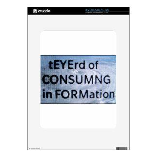 tEYErd of CON$UMNG in FORMation iPad Skin