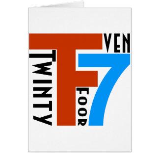 TF7 - Twinty Foor 7ven Card