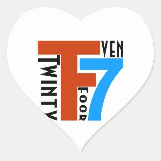 TF7 - Twinty Foor 7ven Heart Sticker