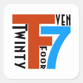 TF7 - Twinty Foor 7ven Pegatina Cuadrada