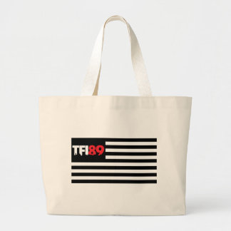 TFI89 B&W Flag Large Tote Bag