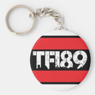 TFI89 BASIC ROUND BUTTON KEYCHAIN