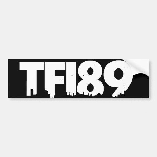 TFI89 Bumper Sticker B&W Car Bumper Sticker