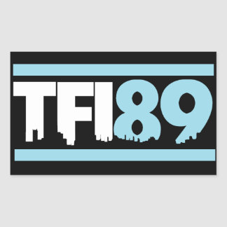 TFI89 Carolina Blue Sticker