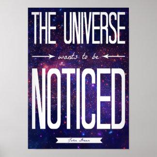 TFiOS que el universo quiere ser poster notado Póster