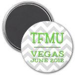 TFMU Vegas Lime Chevron Magnet