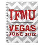 TFMU VEGAS Red Chevron Notebook