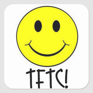 TFTC with Smiley Square Sticker