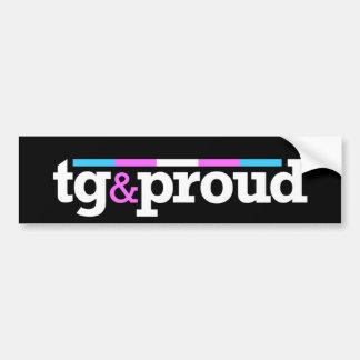 Tg&proud Black Bumper Sticker