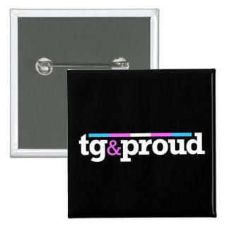 Tg proud Black Button