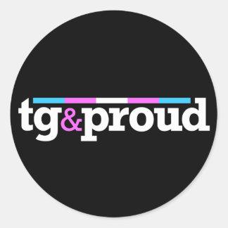 Tg&proud Round Black Sticker