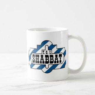 TGI SHABBAT CLASSIC WHITE COFFEE MUG