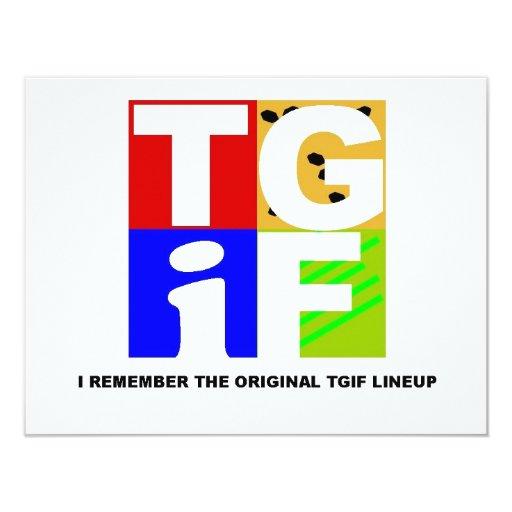 "TGIF 4.25"" X 5.5"" INVITATION CARD"