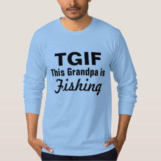 TGIF este abuelo está pescando la camisa