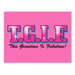 TGIF Fabulous Grandma Postcard