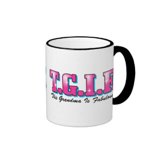 TGIF Fabulous Grandma Ringer Coffee Mug